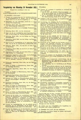 Handelingen van de Raad 1932-11-28