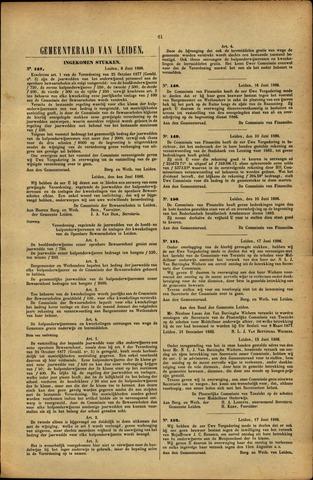 Handelingen van de Raad 1886-06-08