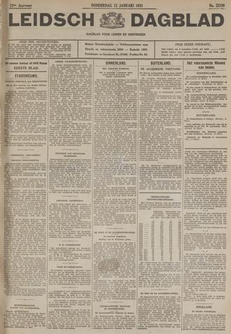 Leidsch Dagblad 1933-01-12