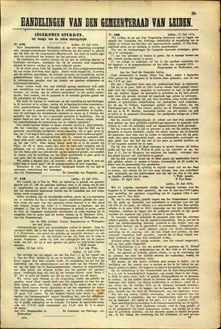 Handelingen van de Raad 1874-07-16