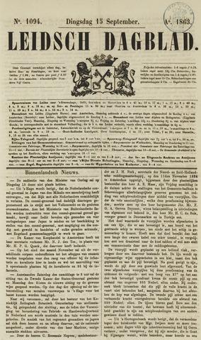 Leidsch Dagblad 1863-09-15