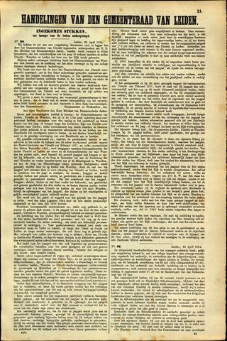 Handelingen van de Raad 1874-04-23