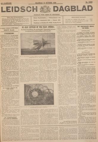 Leidsch Dagblad 1928-10-15
