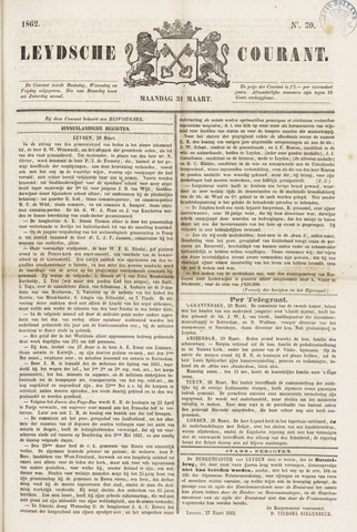 Leydse Courant 1862-03-31