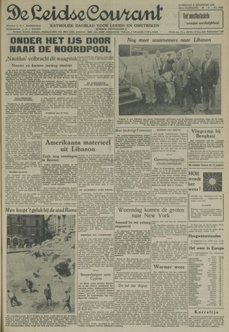 Leidse Courant 1958-08-09