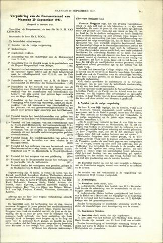 Handelingen van de Raad 1947-09-29
