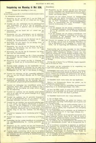 Handelingen van de Raad 1936-05-18