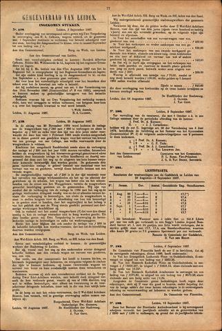 Handelingen van de Raad 1887-09-03