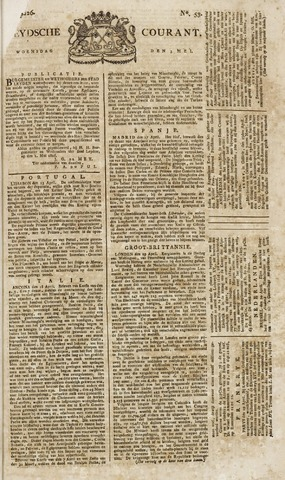 Leydse Courant 1826-05-03