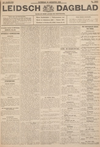 Leidsch Dagblad 1928-08-18