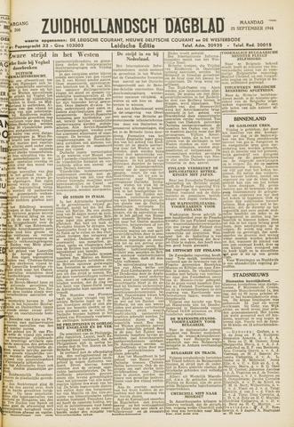 Zuidhollandsch Dagblad 1944-09-25