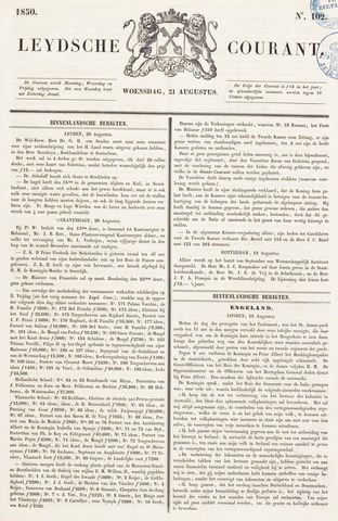 Leydse Courant 1850-08-21
