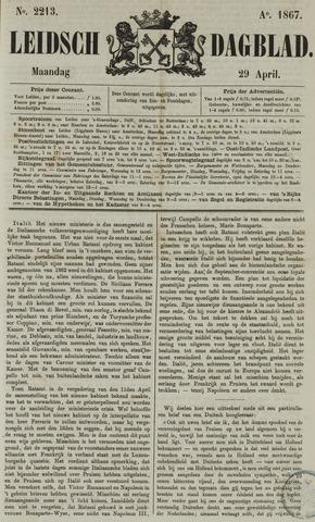 Leidsch Dagblad 1867-04-29