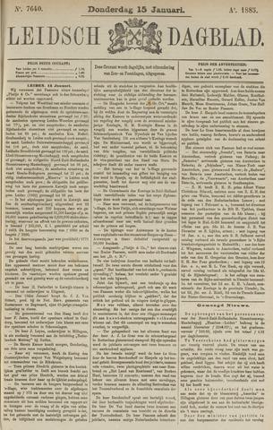 Leidsch Dagblad 1885-01-15