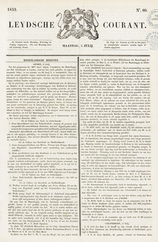 Leydse Courant 1852-07-05