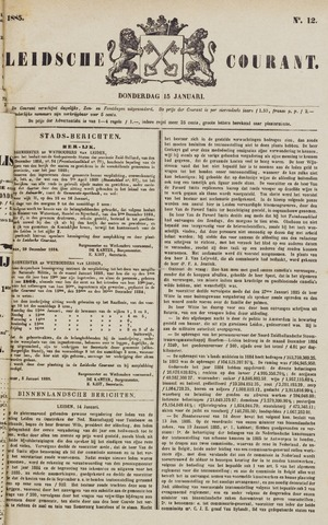 Leydse Courant 1885-01-15
