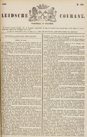 Leydse Courant 1883-10-31