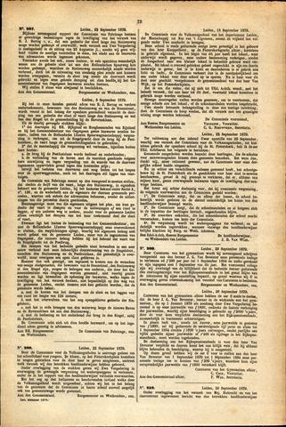 Handelingen van de Raad 1879-09-22