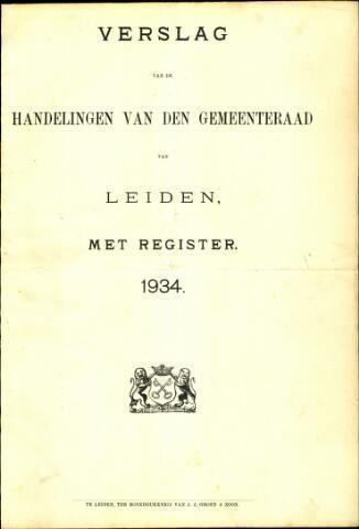 Handelingen van de Raad 1934-01-01