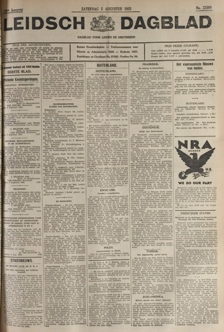 Leidsch Dagblad 1933-08-05