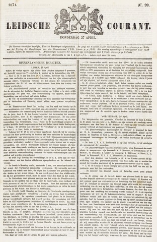 Leydse Courant 1871-04-27