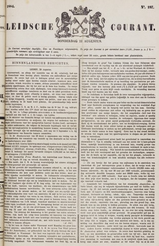Leydse Courant 1884-08-21