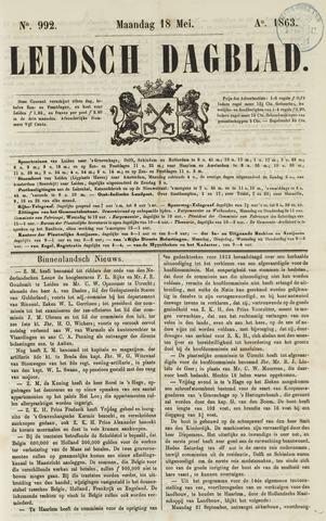 Leidsch Dagblad 1863-05-18