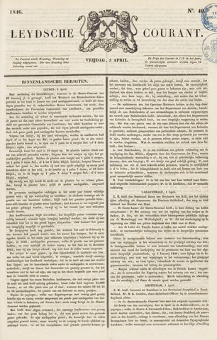 Leydse Courant 1846-04-03