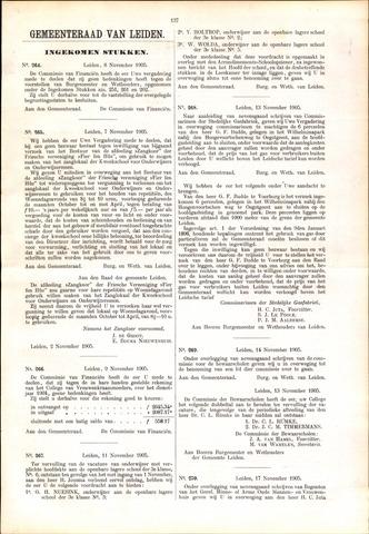 Handelingen van de Raad 1905-11-08