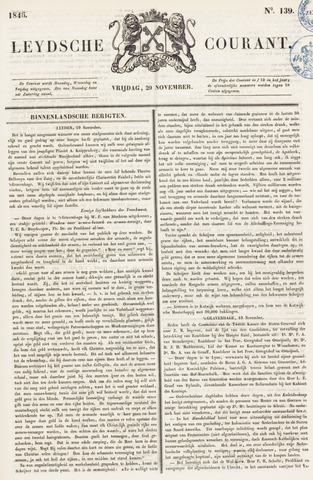 Leydse Courant 1846-11-20