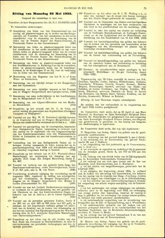 Handelingen van de Raad 1925-05-25