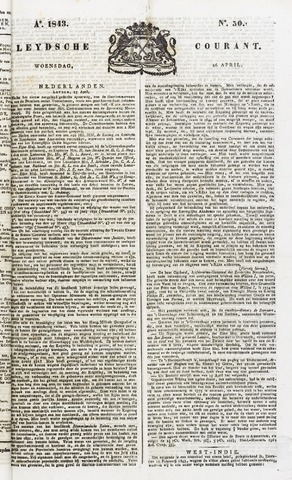 Leydse Courant 1843-04-26