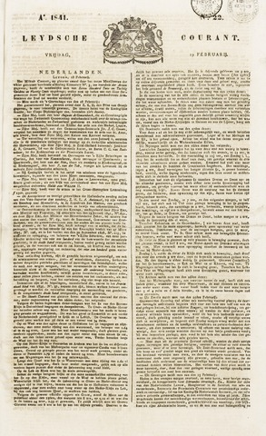 Leydse Courant 1841-02-19