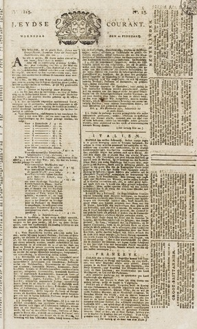 Leydse Courant 1815-02-22