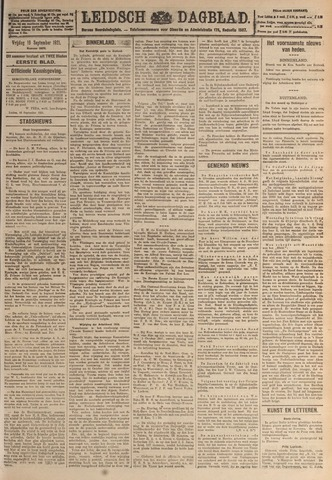 Leidsch Dagblad 1921-09-16
