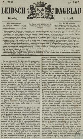 Leidsch Dagblad 1867-04-09