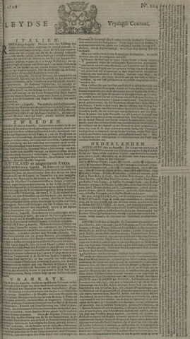 Leydse Courant 1749-08-29