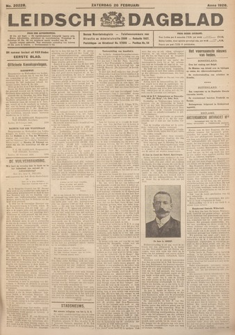 Leidsch Dagblad 1926-02-20