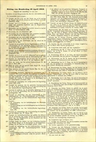 Handelingen van de Raad 1913-04-10