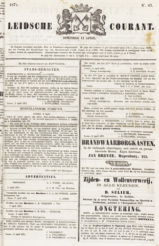 Leydse Courant 1871-04-11