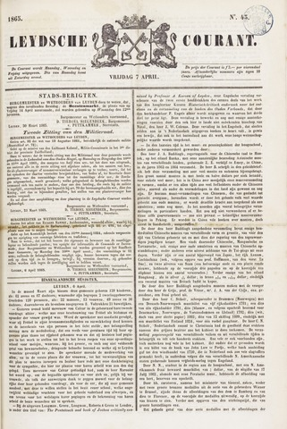 Leydse Courant 1865-04-07