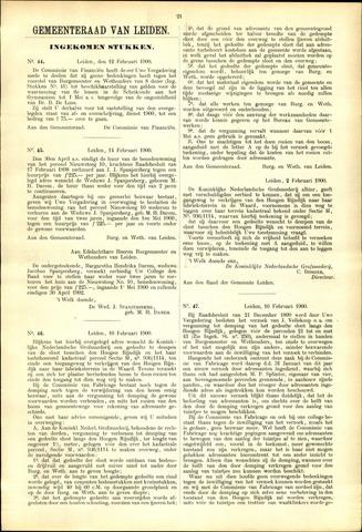 Handelingen van de Raad 1900-02-12