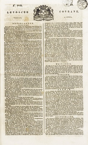 Leydse Courant 1841-04-23