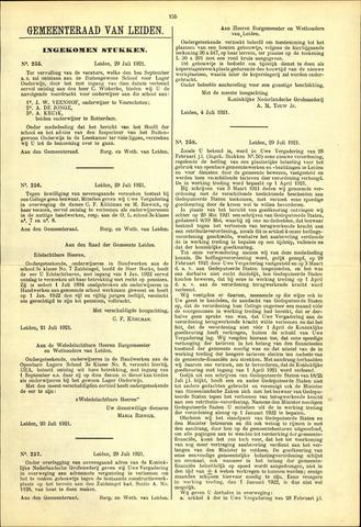 Handelingen van de Raad 1921-07-29