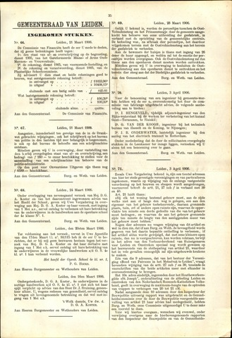 Handelingen van de Raad 1906-03-21