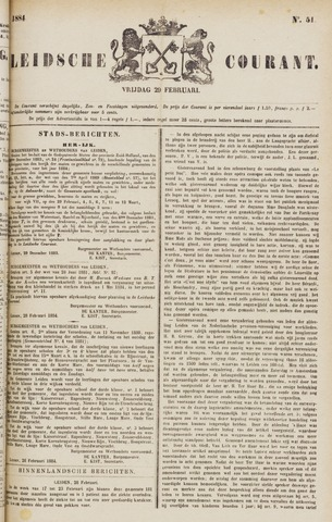 Leydse Courant 1884-02-29