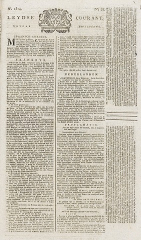 Leydse Courant 1814-08-05