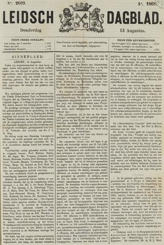 Leidsch Dagblad 1868-08-13