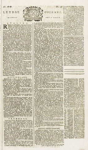 Leydse Courant 1819-03-22