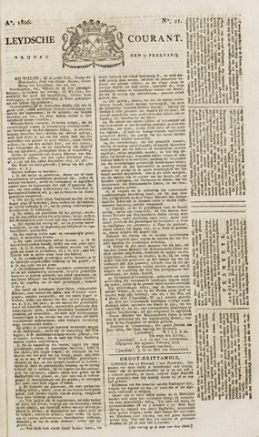 Leydse Courant 1826-02-17